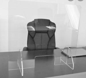 MOB Menuiserie Agencement Design à Orange dans le Vaucluse plaques de protection covid-19